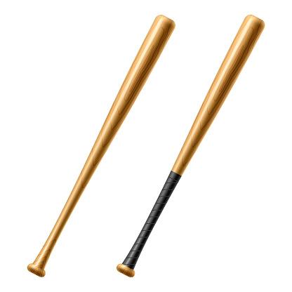 Baseball Bat. Detailed vector.