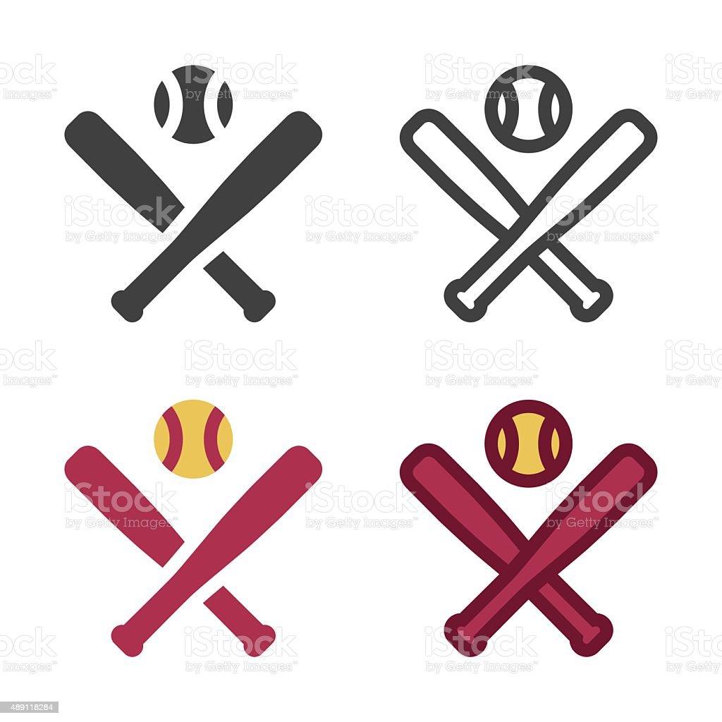 Baseball Bat Icon vector art illustration