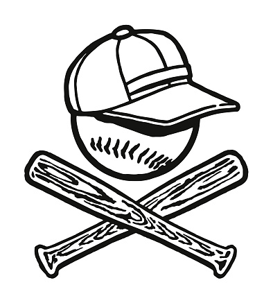 Baseball Bats, Ball, and Cap