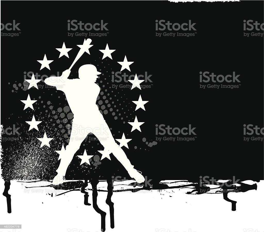 Baseball Batter All-Star Background royalty-free baseball batter allstar background stock vector art & more images of athlete