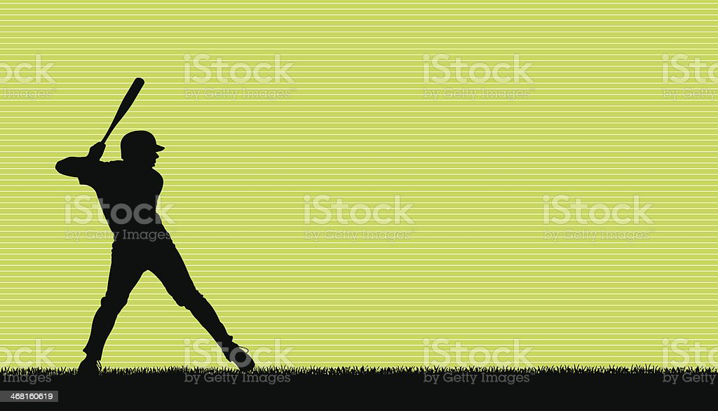 Baseball Batter All-Star Background vector art illustration