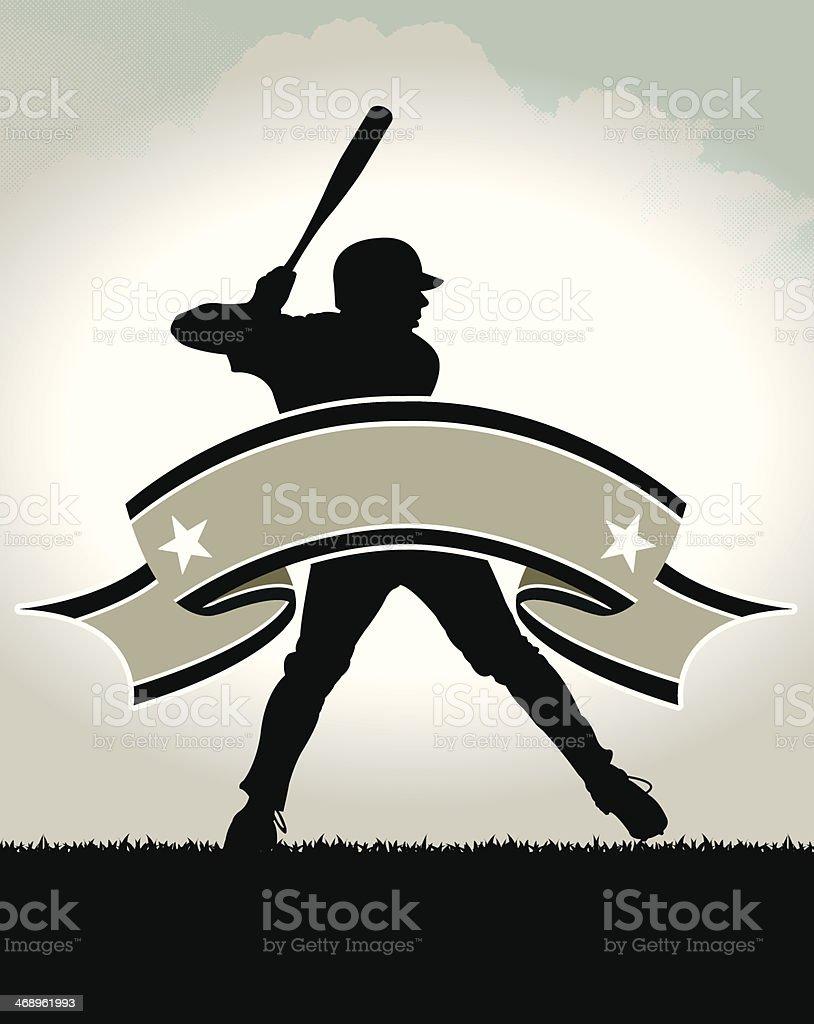 Baseball Batter All-Star Banner Background vector art illustration