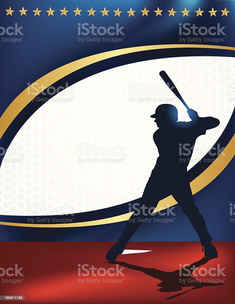 Baseball Batter - At Bat Background royalty-free stock vector art