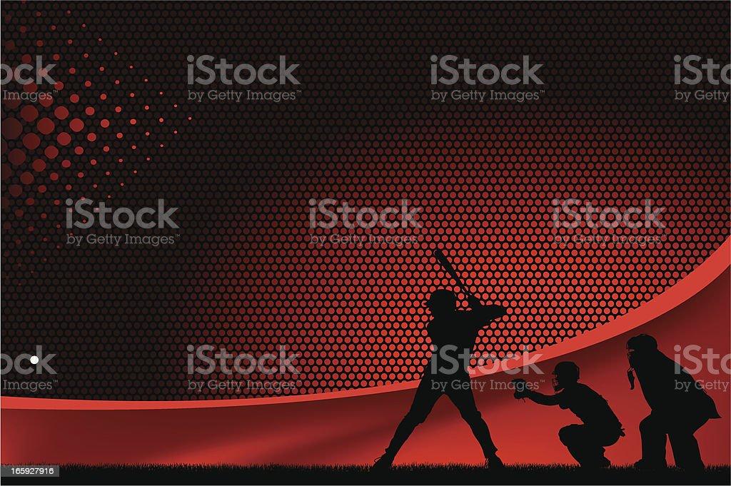 Baseball Batter Background Graphic vector art illustration