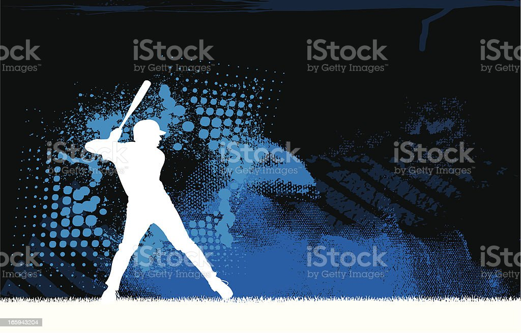 Baseball Batter Background Graphic royalty-free stock vector art