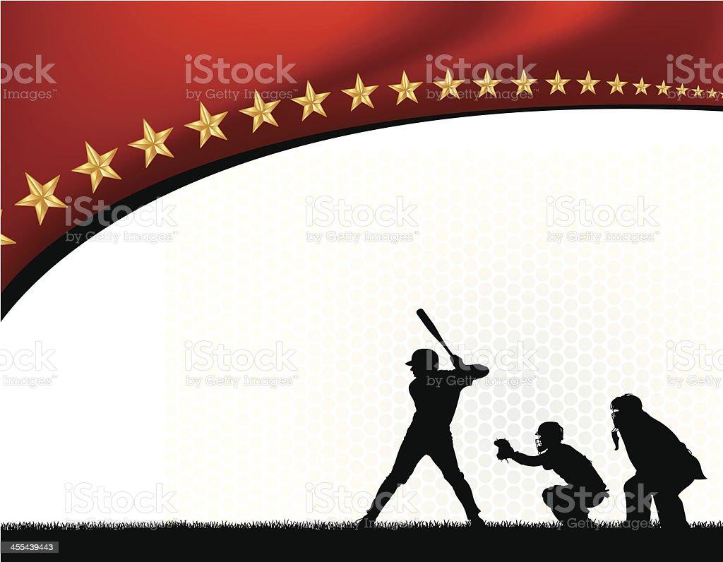 Baseball Batter Background vector art illustration