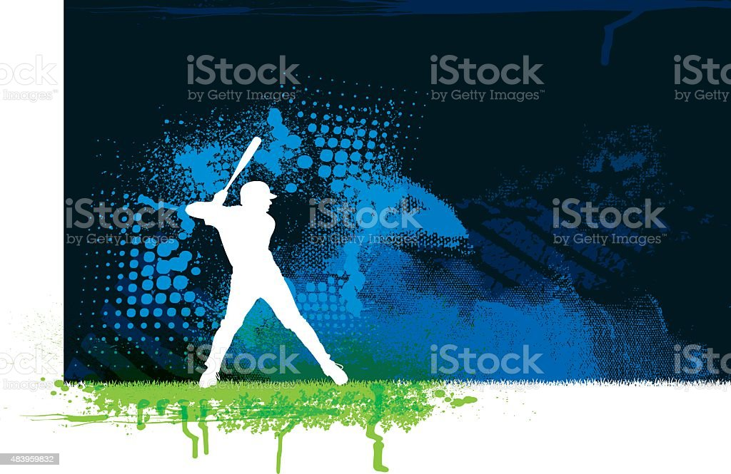 Baseball Batter Background vector art illustration