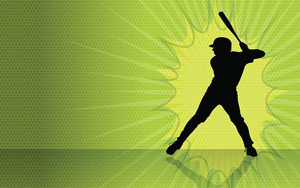 Baseball Batter Burst Background vector art illustration