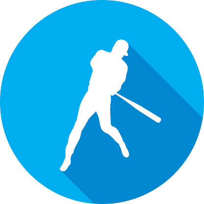 Baseball Batter Icon Silhouette