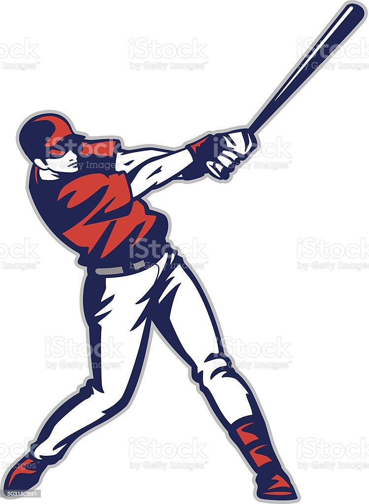 Baseball Batter vector art illustration