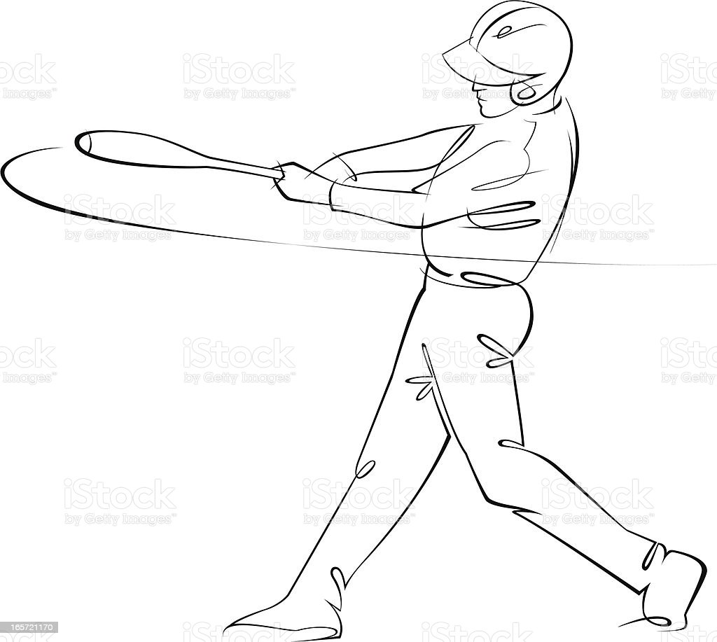 Baseball batting royalty-free stock vector art