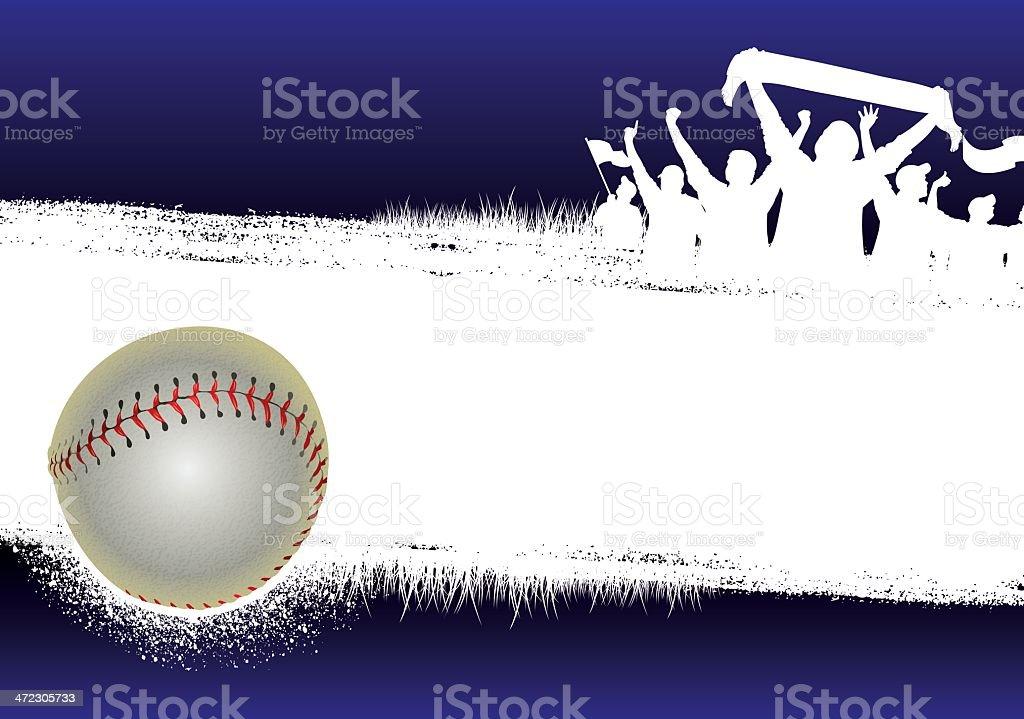 Baseball Blue Background vector art illustration