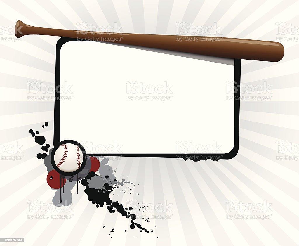Baseball Board royalty-free stock vector art