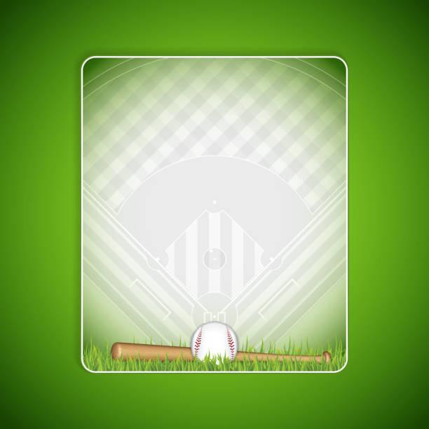 Baseball brochure vector art illustration