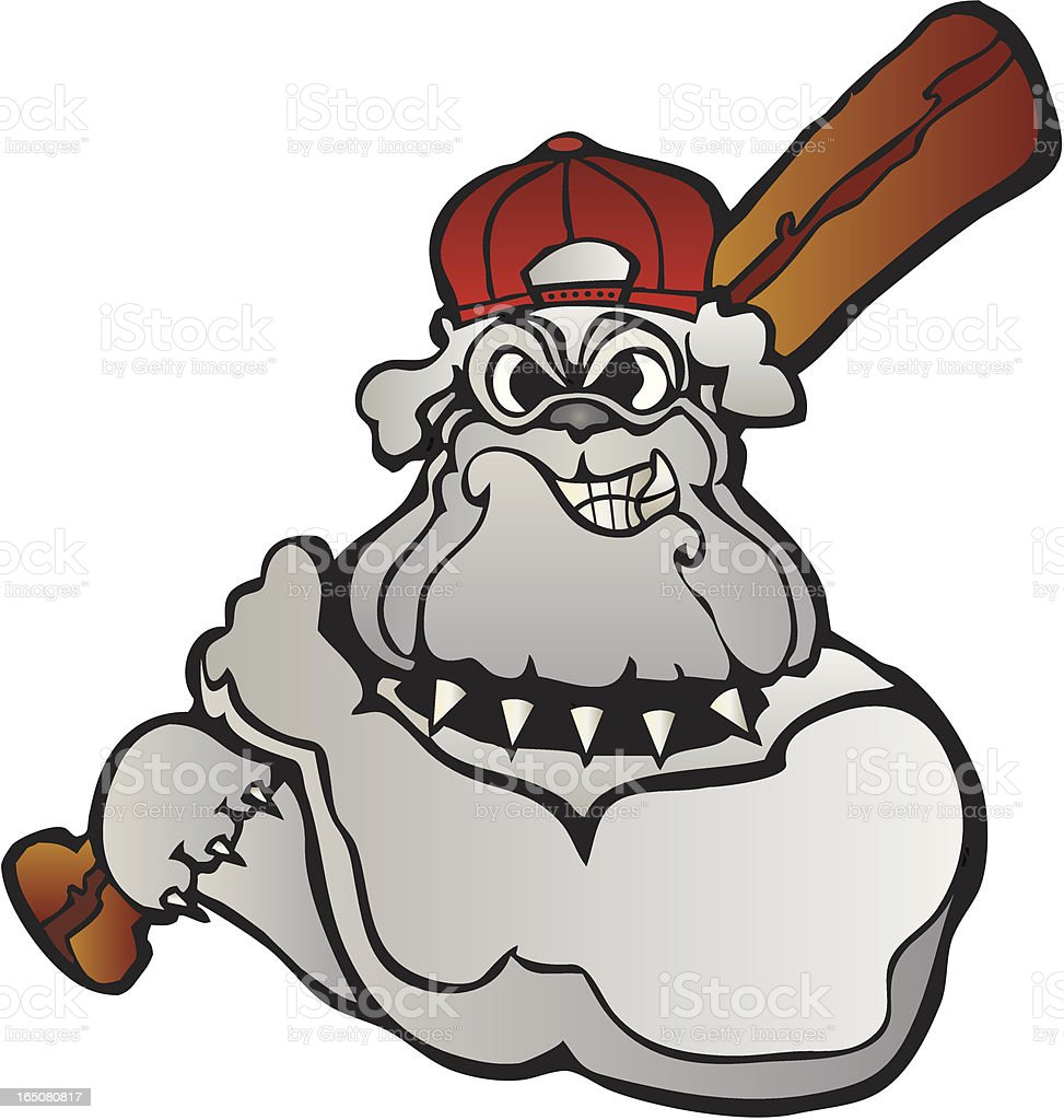 Baseball Bulldog royalty-free stock vector art