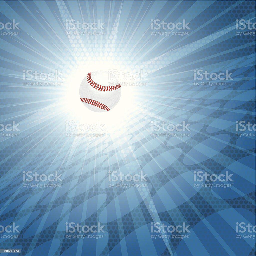 Baseball Burst Graphic Background vector art illustration