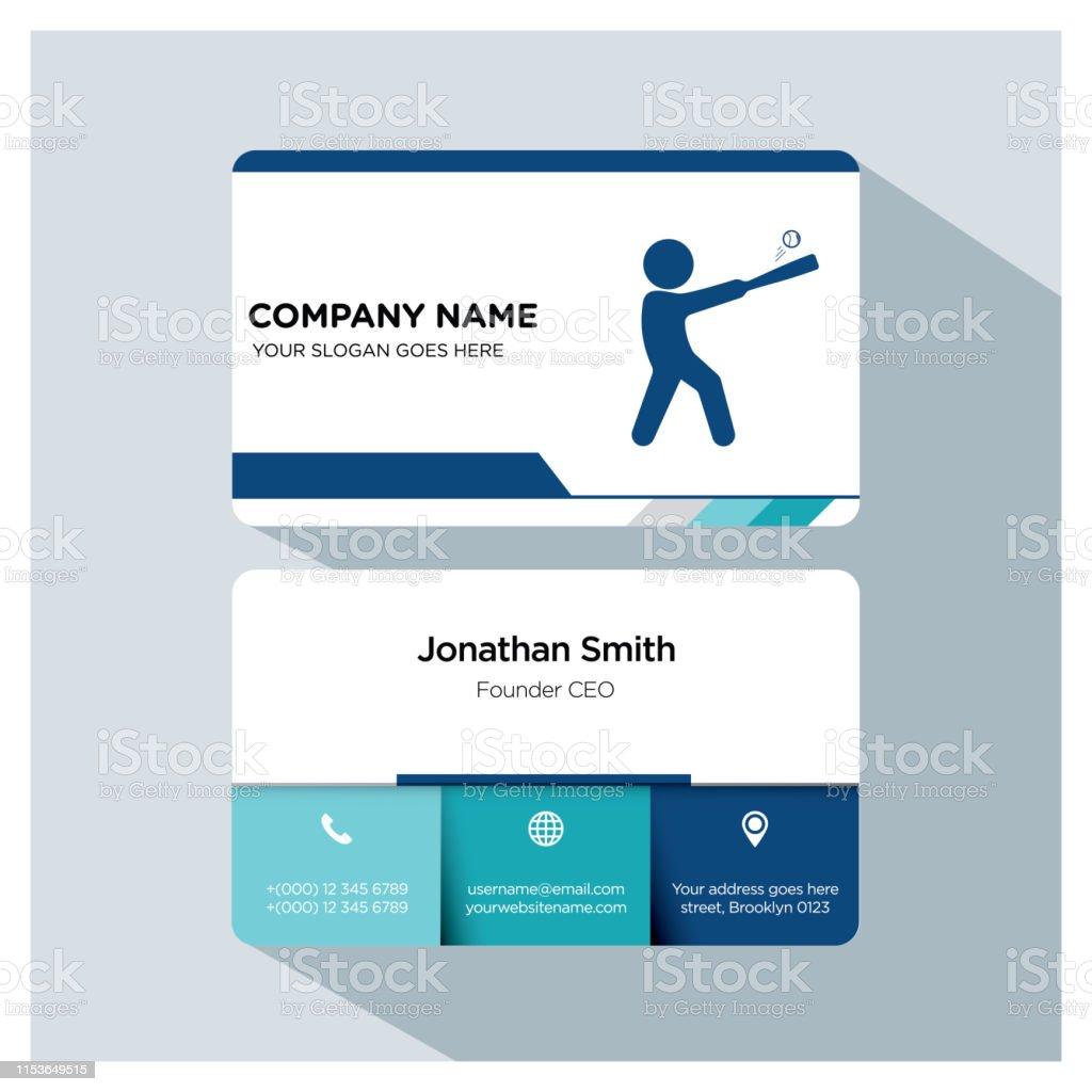 Baseball Business Card Template Set Stock Illustration