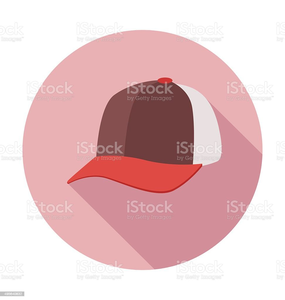 Baseball Cap Colored Vector Illustration vector art illustration