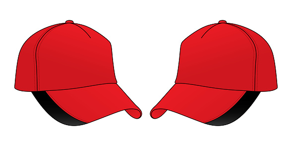 Baseball Cap Design Vector (Red / Black)