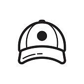 Baseball cap icon. Flat style design