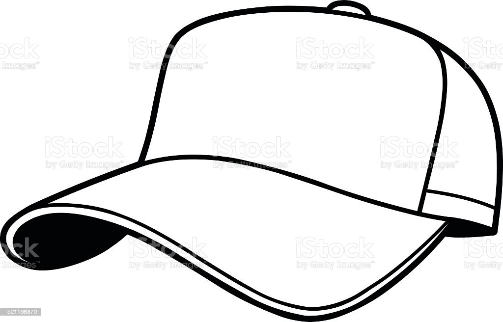baseball cap illustration stock vector art more images of american rh istockphoto com blank baseball hat vector white baseball hat vector