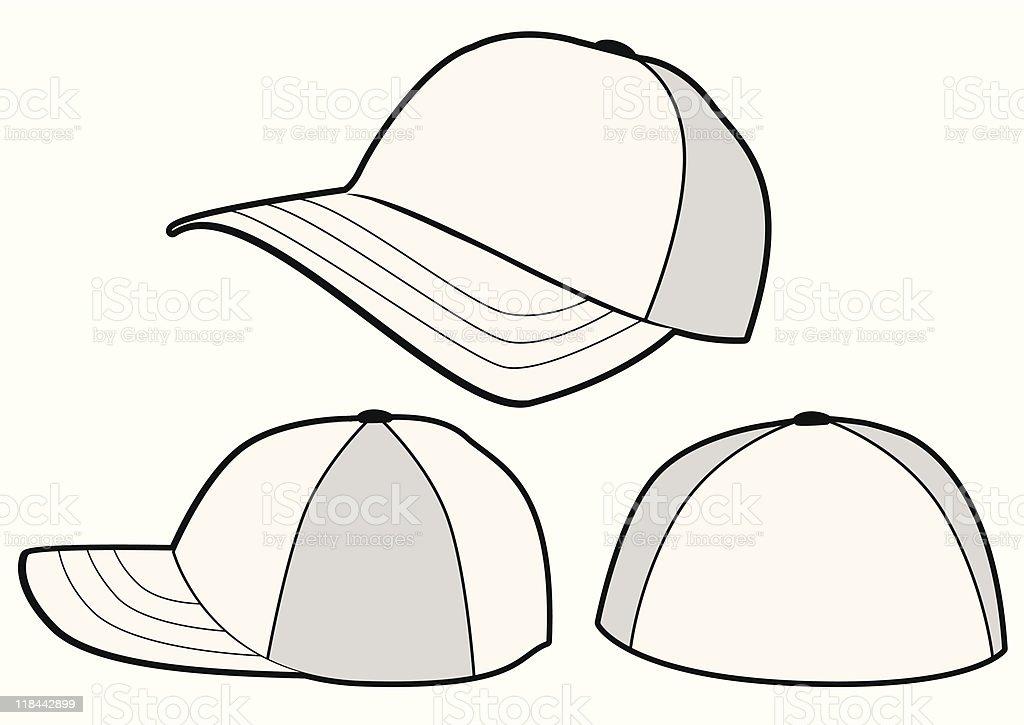 baseball cap or hat vecor template design stock vector art more