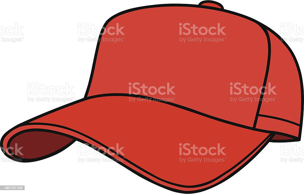 royalty free baseball cap clip art vector images illustrations rh istockphoto com blank baseball hat vector Vector Baseball Hat Front