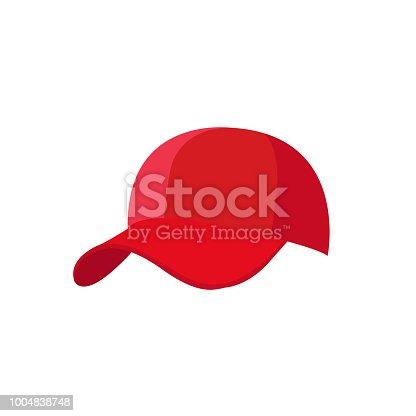 Baseball cap vector illustration on the white background.