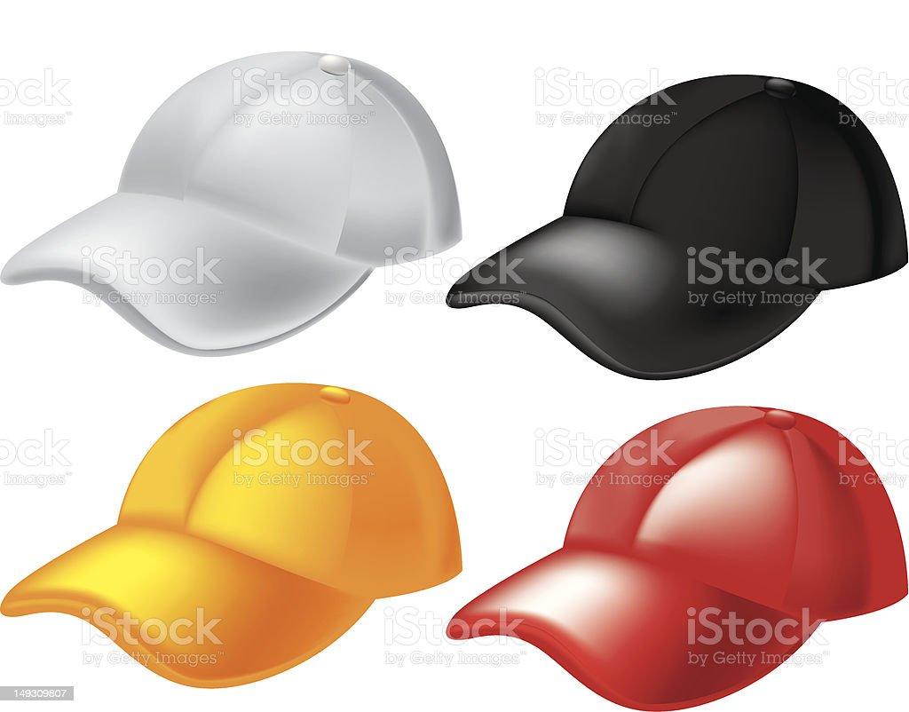 baseball caps template stock vector art more images of baseball