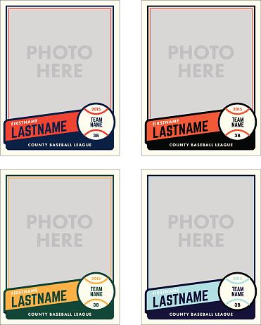 Baseball Card Vector Template