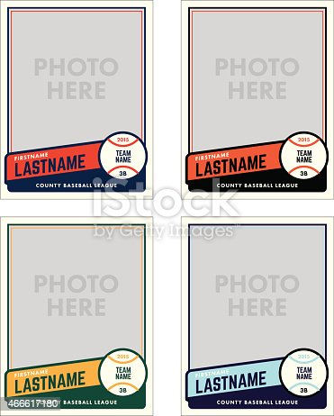 istock Baseball Card Vector Template 466617180