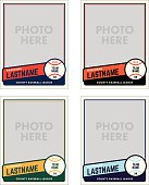 Create your own baseball cards with these great templates. Add your own photos and customize with your own colors and text.