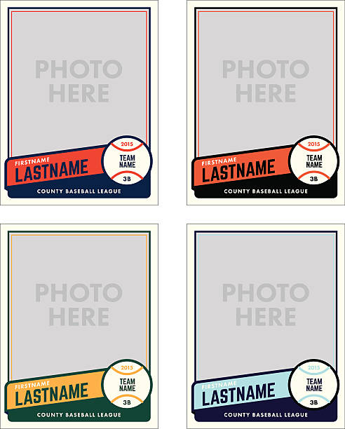 Royalty free baseball clip art vector images for Baseball card size template