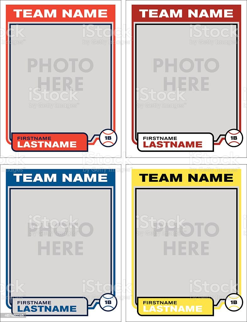 Baseball card template baseball card templates free blank for Baseball card template microsoft word