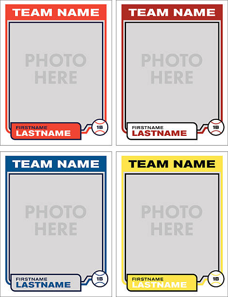 Baseball Card Vector Template vector art illustration