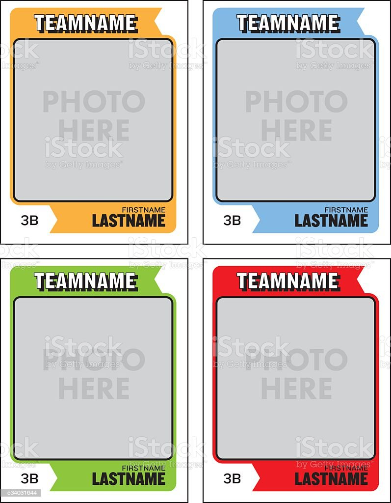 Baseball Card Vector Template royalty-free baseball card vector template stock vector art & more images of american football - sport