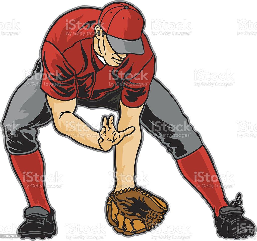 baseball catch royalty-free stock vector art