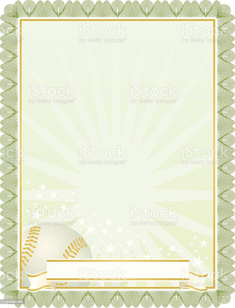 Baseball certificate royalty-free baseball certificate stock vector art & more images of award