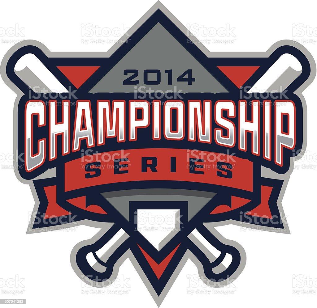 Baseball Championship-Logo – Vektorgrafik