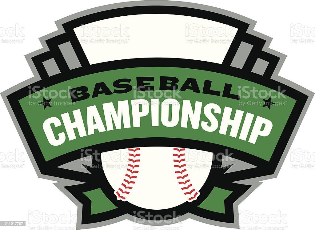 Baseball Championship Logo vector art illustration