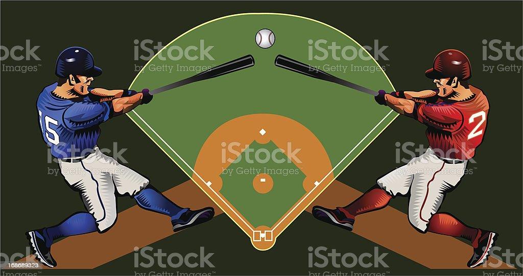 Baseball championship royalty-free stock vector art