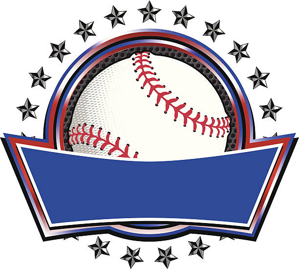 Baseball Circle Banner vector art illustration