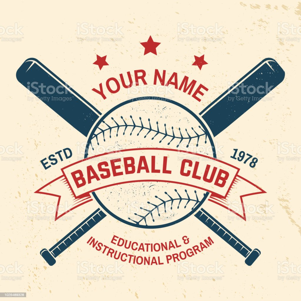 Baseball club badge. Vector illustration. Concept for shirt or logo, print, stamp or tee. vector art illustration