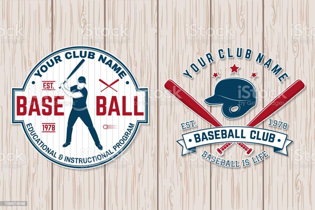 Baseball-Club-Abzeichen. Vektor-Illustration. Konzept für Hemd oder Logo, print, Stempel oder Tee. – Vektorgrafik