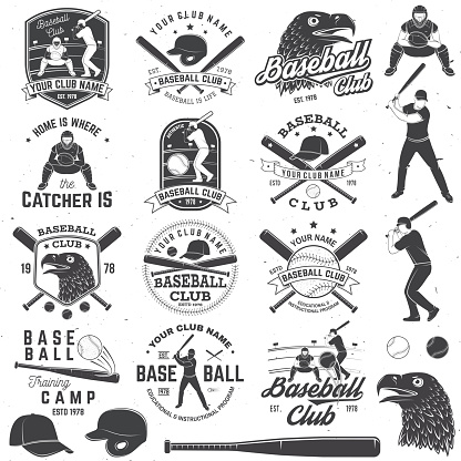 Baseball club badge. Vector illustration. Concept for shirt or , print, stamp or tee.
