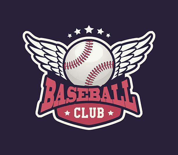 Baseball Club College Campus Badge vector art illustration