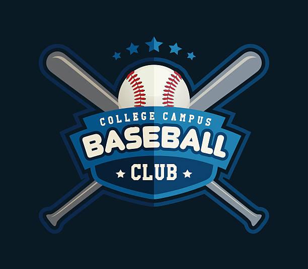 Baseball Club Logo vector art illustration