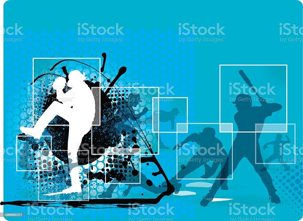 Baseball Collage Background vector art illustration