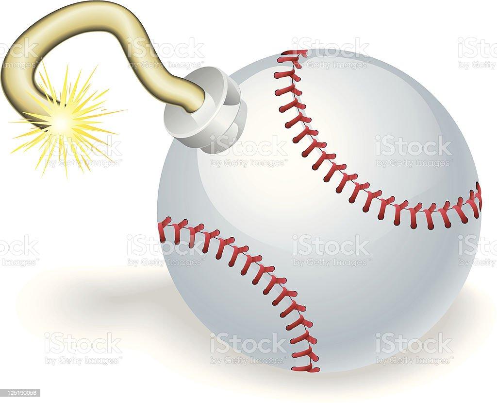 Baseball countdown bomb illustration vector art illustration