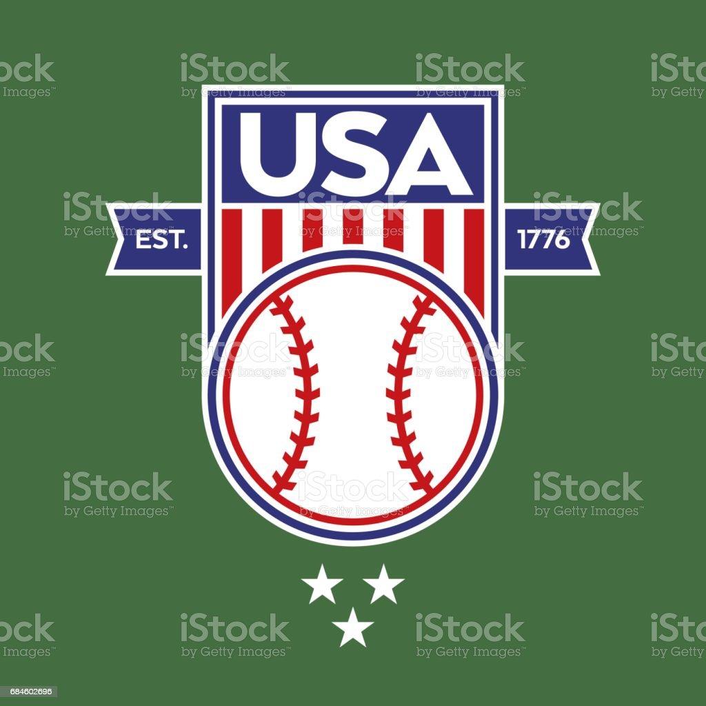 USA Baseball Crest vector art illustration